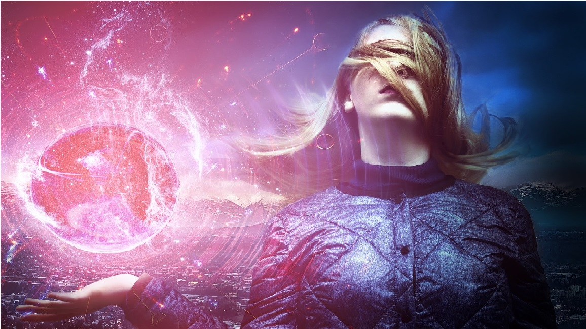 a woman and the Divine Being in her lucid dreaming