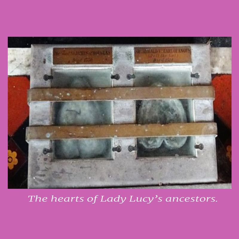 The hearts of Lady Lucy's ancestors in lucid dreaming