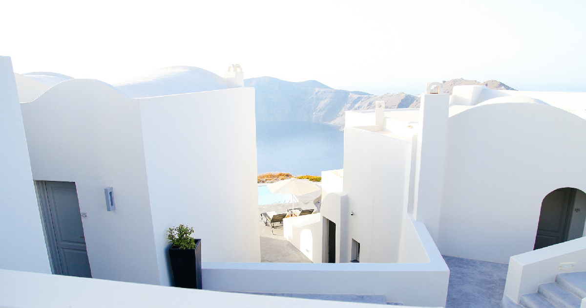 white marble hotel