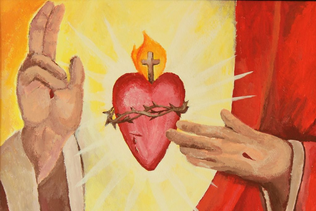 sacred heart of Christ in lucid dreaming